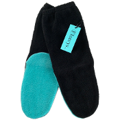 Black & Teal Socks