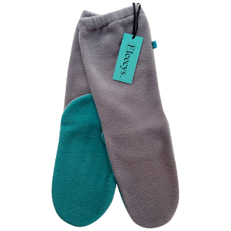 Grey & Teal Socks