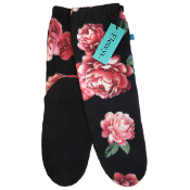 Black with Roses Socks